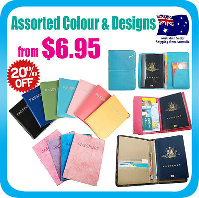 Travel Wallet Passport Holder Cover Case Protector Document Organizer Bag