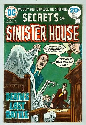 Secrets of Sinister House #17 VG April 1974 1 page Chaykin art