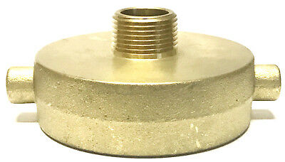 "NNI 2-1/2"" Female NST - NH x 3/4"" Male NPT HOSE HYDRANT BRASS ADAPTER"