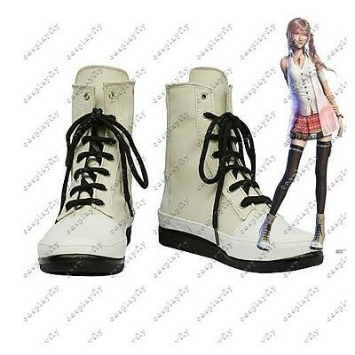 Hot Game Final Fantasy Serah Shoes Cosplay Boots Custom Size