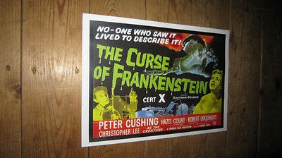 The Curse of Frankenstein Cushing Repro POSTER