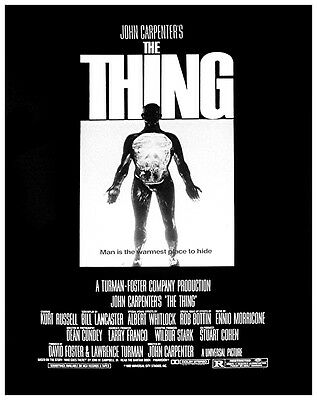 JOHN CARPENTERS THE THING Movie Poster 1982 Kurt Russell Sci-Fi Horror Alien