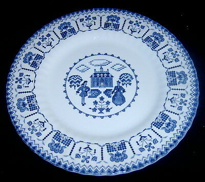 J&G Meakin Royal Staffordshire Blue Sampler Dinner Plate Plate SH