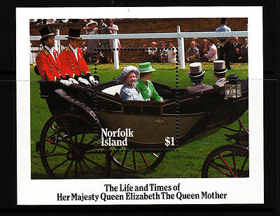 "1985 Life & Times ""The Queen Mother"" MUH Mini Sheet"