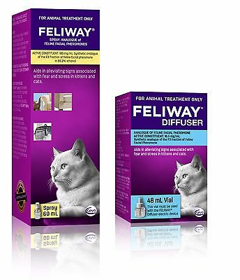 Feliway for Cats 48mL Diffuser Refill & 60mL Travel Spray