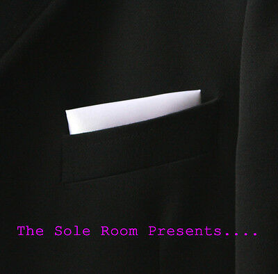 White Straight Pocket Handkerchief For Suit Jackets Crombies-Mod Indie Scooters