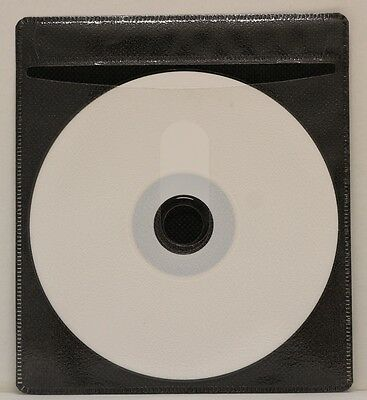 200 Generic CD/DVD Double-sided Refill Plastic Sleeve Black (NH)