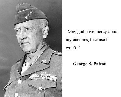General George S. Patton World War 2 WWII Quote 8 x 10 Photo Picture #hb8