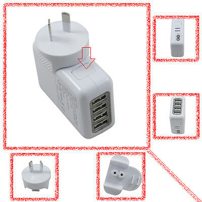 4 Ports USB Wall Home AC Charger Adapter for IPAD iPhone - SALE