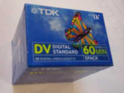 Cassettes Mini - DV Lot de 5 60 Min dvm dvc neuves TDK stock France