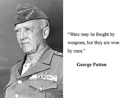 General George S.  Patton World War 2 WWII Quote 8 x 10 Photo Picture #fm1