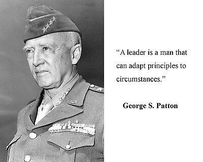 General George S. Patton World War 2 WWII Leader Quote 8 x 10 Photo Picture #hb5