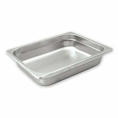 6 x Bain Marie Tray Anti Jam Steam Pans 1/2 Size 100mm Stainless Steel