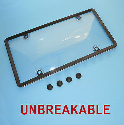 2xClear License Plate Cover Frame BUG Shield Plastic Protector for US Car Tag