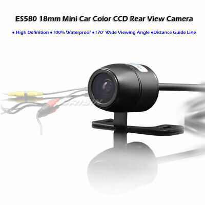 ES580EN 18mm Mini Design 170 Degree View Angle Color CCD Car Rear View Camera