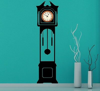 """Large Grandfather Clock Silhouette Wall Stickers Clock Background 180cm 71"""" UK"""
