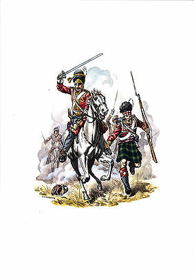 Royal Scots Greys & the Gordon Highlanders at Waterloo Edition limited to 100