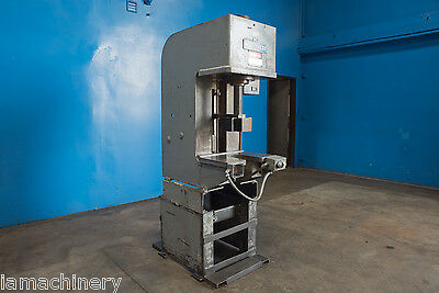 "10 Ton Multipress Hydraulic C Frame Press 21"" x 15"" Bed Straightening Forming"