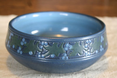 RARE Marblehead Pottery Hand Decorated Bowl Free Shipping