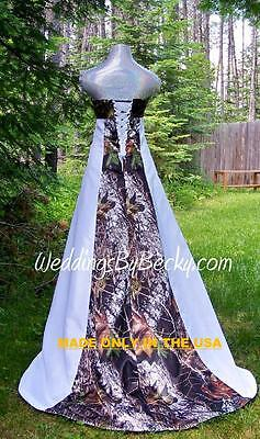New Camo Wedding Gown Mossy Oak Satin Made Only In Usa