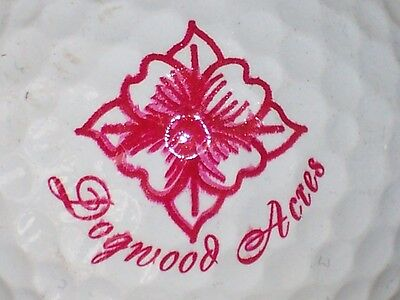 (1) Dogwood Acres Golf Course Logo Golf Ball (Red)