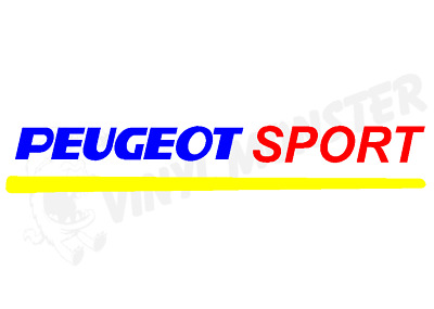 Peugeot Sport Car Sticker, 106 205 206 306 307 GTI HDI