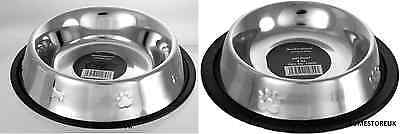Stainless Steel Pet Dog Puppy/cat Dinner Food Water Feeder Feeding Bowl Dish