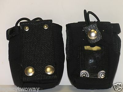 EX500 DTMF Nylon Carry Case Bungee Strap and Belt Loop MR8215-CB0 Lot Of 2