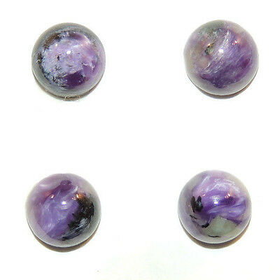 Charoite 8mm Round Cabochons with 5mm dome Set of 4 (2153)