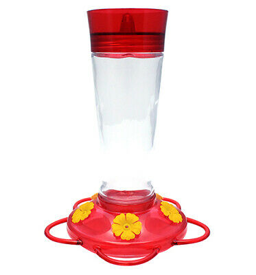 More Birds Ruby Glass Hummingbird Feeder 10oz 5 Feeding Ports Classic35