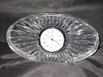 Elegant Waterford Crystal Clock Oval Time Mint Condition New Battery
