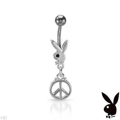 PLAYBOY Body Ring W//Genuine Crystal in Made of Metallic Base metal and StSl