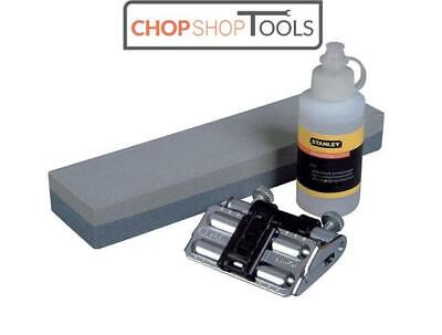 STANLEY Chisel Honing Guide Sharpening Oil Stone 3 PIECE KIT 0-16-050 STA016050