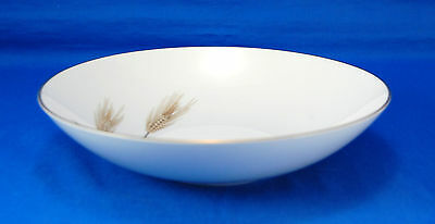 Sango AUTUMN GOLD Fruit / Dessert Bowl 5.5 in. Gold Wheat Gray Leaves Trim