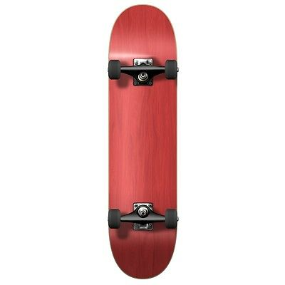"""Blank Complete Skateboard Stained RED 7.75"""" Skateboards, Ready to rideRed"""