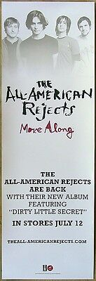 THE ALL-AMERICAN REJECTS Move Along PROMO Poster TYSON RITTER Nick Wheeler RARE!