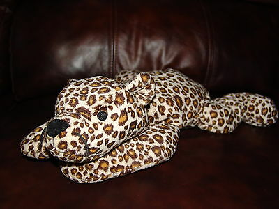 """1996 Ty Pillow Pals Speckles the Spotted Leopard Plush Doll 14"""""""