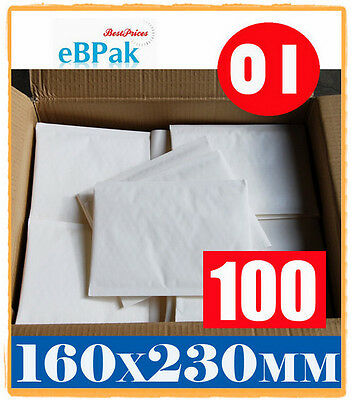100 #01 160x230mm - NEW BLANK - Bubble Padded Bag * SIZE 01 Envelope Mailer