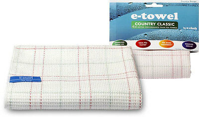 e-towel Country Classic Tea Towel from e-cloth Dries 4 Times Faster than Cotton