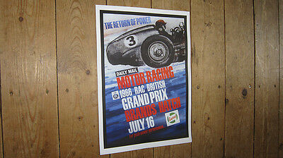 Brands Hatch F1 Brotish Grand Prix Repro POSTER