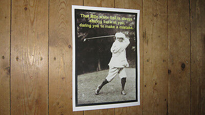 Fantastic Golf Slogan New POSTER