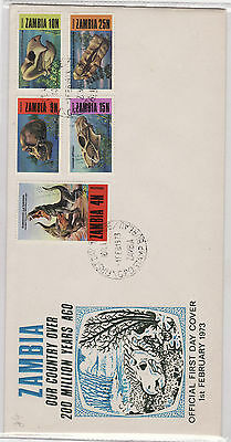 1973 ZAMBIA  FDC 200 Million years ago..