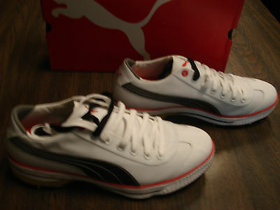 new for 2012 Puma club 917 golf shoes white black fiery red mens size 11.5