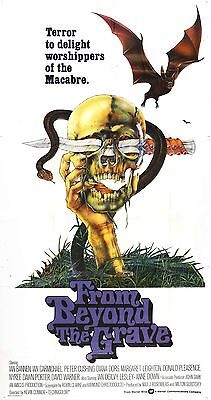 FROM BEYOND THE GRAVE Movie Poster 1974 Horror RARE Peter Cushing