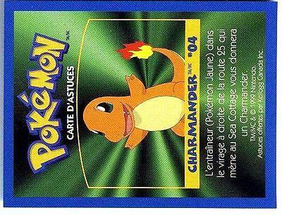 Promo Pokemon Fr/English Kellog Bilingual Card 1 By Side #04 Charmander