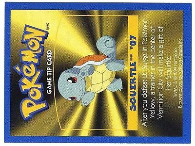 Promo Pokemon Fr/English Kellog Bilingual Card 1 By Side #07 Squirtle