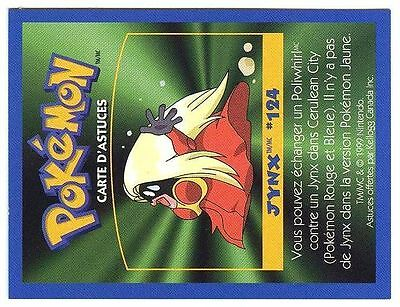 Promo Pokemon Fr/English Kellog Bilingual Card 1 By Side #124 Jynx