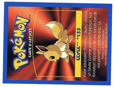 Promo Pokemon Fr/English Kellog Bilingual Card 1 By Side #133 Eevee Evoli