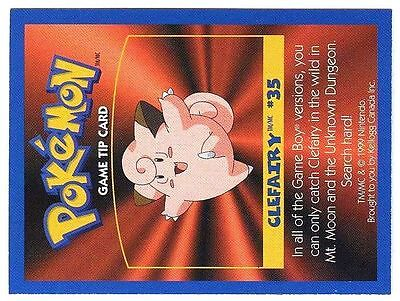 Promo Pokemon Fr/English Kellog Bilingual Card 1 By Side #35 Clefairy