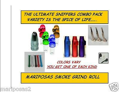 VARIETY PACK SNUFF ACCESSORIES DISPENSERS, POSH , SPOON BOTTLE & OTHERS (6pc)